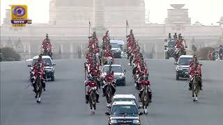 President Ram Nath Kovind Reaches Vijay Chowk for Beating the Retreat Ceremony 2020
