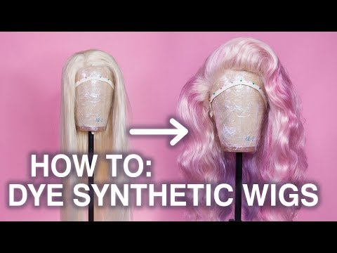 How To Dye a Synthetic Wig! (Method for Lace Fronts)