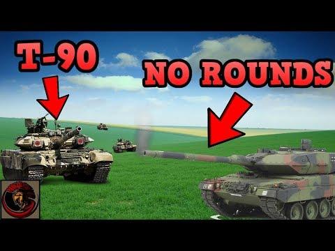 T-90 Tank vs Leopard 2 Tank   EPIC FAIL
