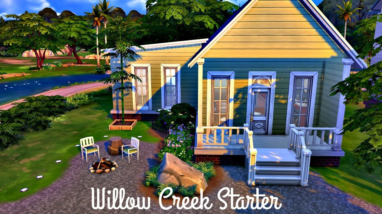 The sims 4 speed build willow creek starter youtube for Willow creek mansion