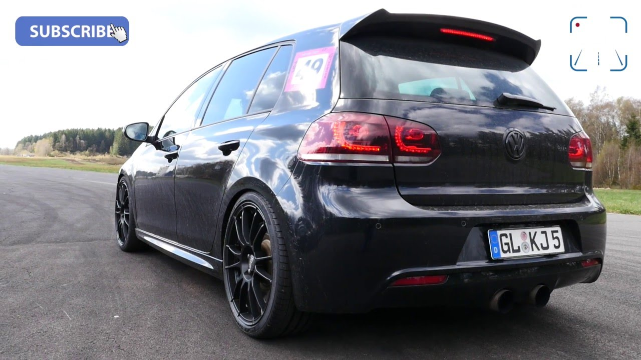 740 hp vw golf 6 r 3 6 v6 biturbo hgp fast 60 230 km h acceleration youtube. Black Bedroom Furniture Sets. Home Design Ideas