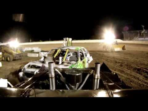 East Moline Rock Island County IL. Demo Derby 2013 wire class car #32 onboard camera