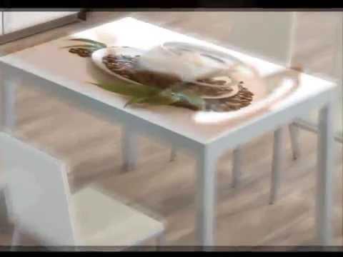 TABLE EN VERRE PERSONNALISABLE AVEC L'IMPRESSION DIGITALE DE LA PHOTO OU IMAGE DE VOTRE CHOIX !!!