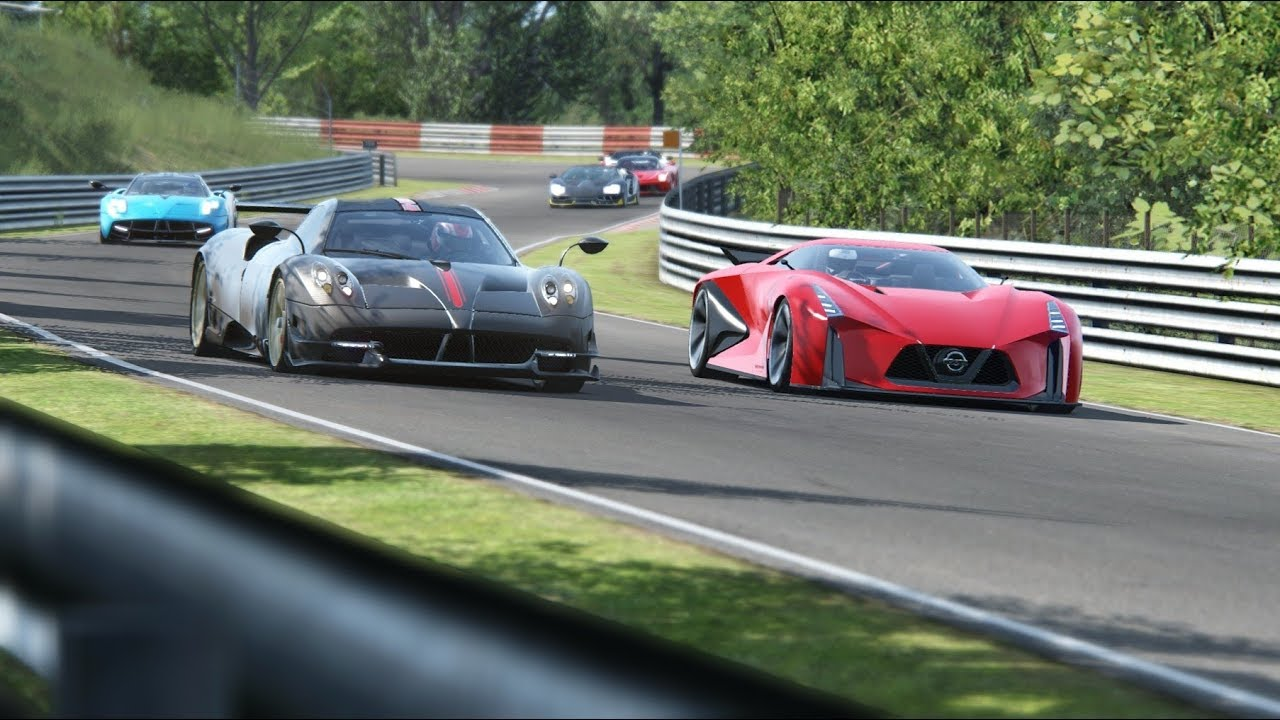 Nissan Concept 2020 Vision GT vs Supercars at Nordschleife