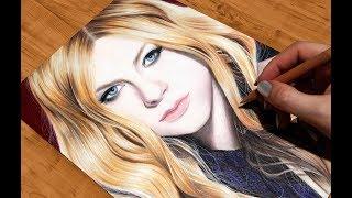 Drawing Avril Lavigne | Рисую портрет Аврил Лавин