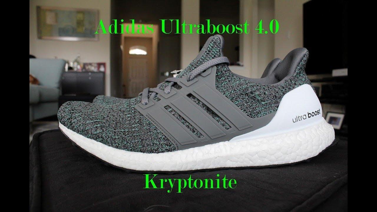 73d0e1d57d348 Adidas Ultra Boost 4.0 Kryptonite Mint On-feet    NEW    - YouTube