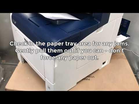 How to Resolve a Paper Jam - Xerox - C405/C400/6605
