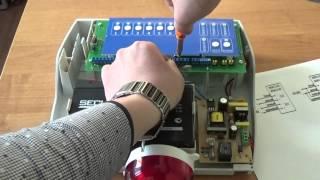 Підключення сирени Маяк 12КП до ППКОП Вектор 2-8