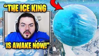 Courage Reacts To THE ICE KING Appearing In Game (Ice Event) | Fortnite Daily Funny Moments Ep.299