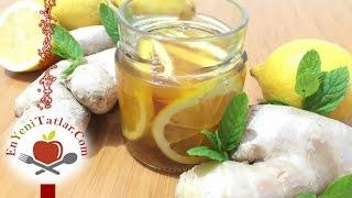 Zencefil Bal Limon Karışımı | Zencefilli Ballı Limonlu Öksürük Şurubu | Bitkisel Antibiyotik