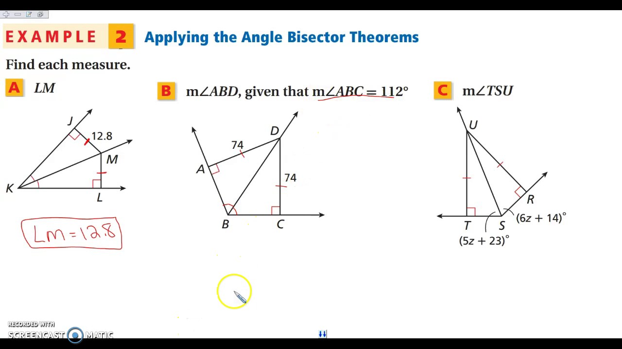 5 1 Perpendicular and Angle Bisectors   YouTube