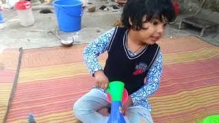 Funny Baby playing in bangladesh