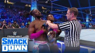 The New Day retain their Tag Team title vs. Shinsuke Nakamura and Cesaro | FRIDAY NIGHT SMACKDOWN