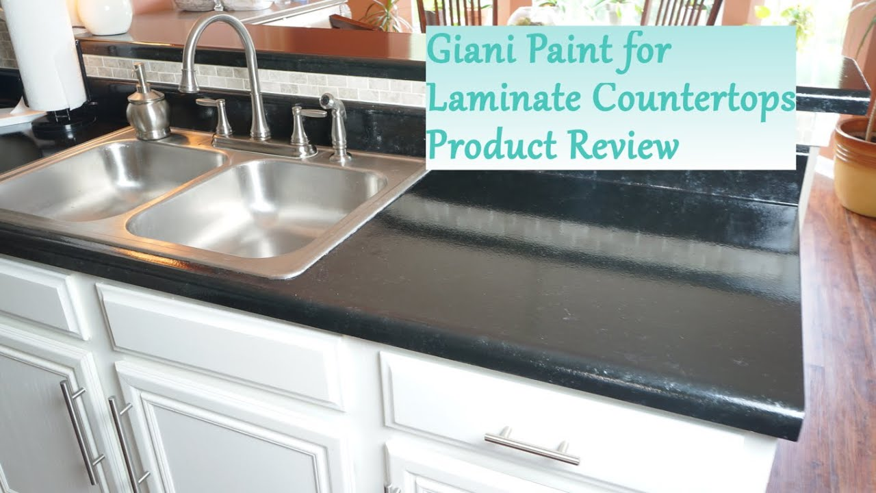 Can You Paint Countertops Formica Painted Laminate Countertop Review - Giani System - Youtube