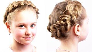видео Как плести корзинку из волос по кругу