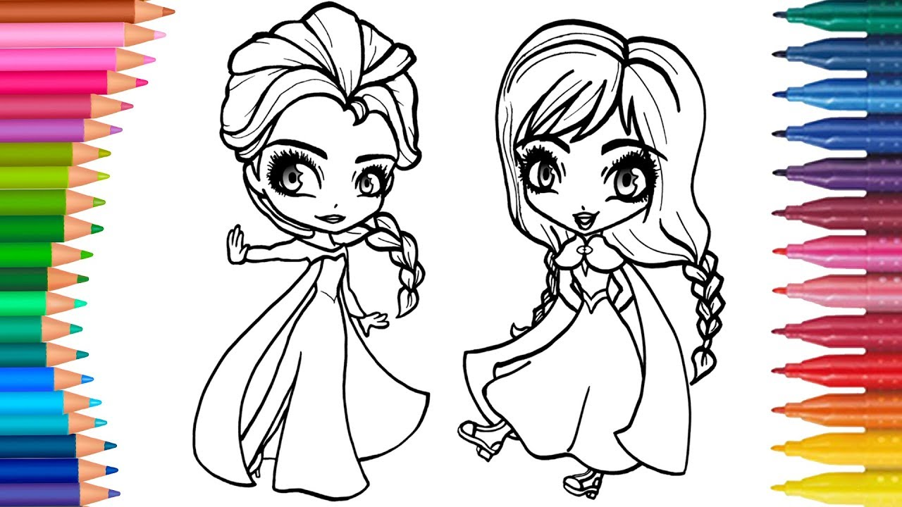 Karlar ülkesi Frozen Anna Ve Elsa Nasıl Boyanır Minik Eller