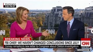 "BREAKING NEWS - FBI Director Comey says ""NO NEW FINDINGS"" on Clinton's Recently Uncovered Emails"