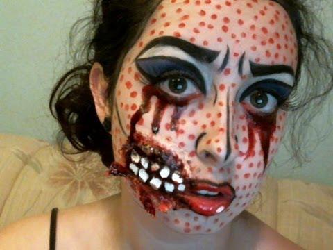 dead pop art exposed teeth makeup tutorial youtube