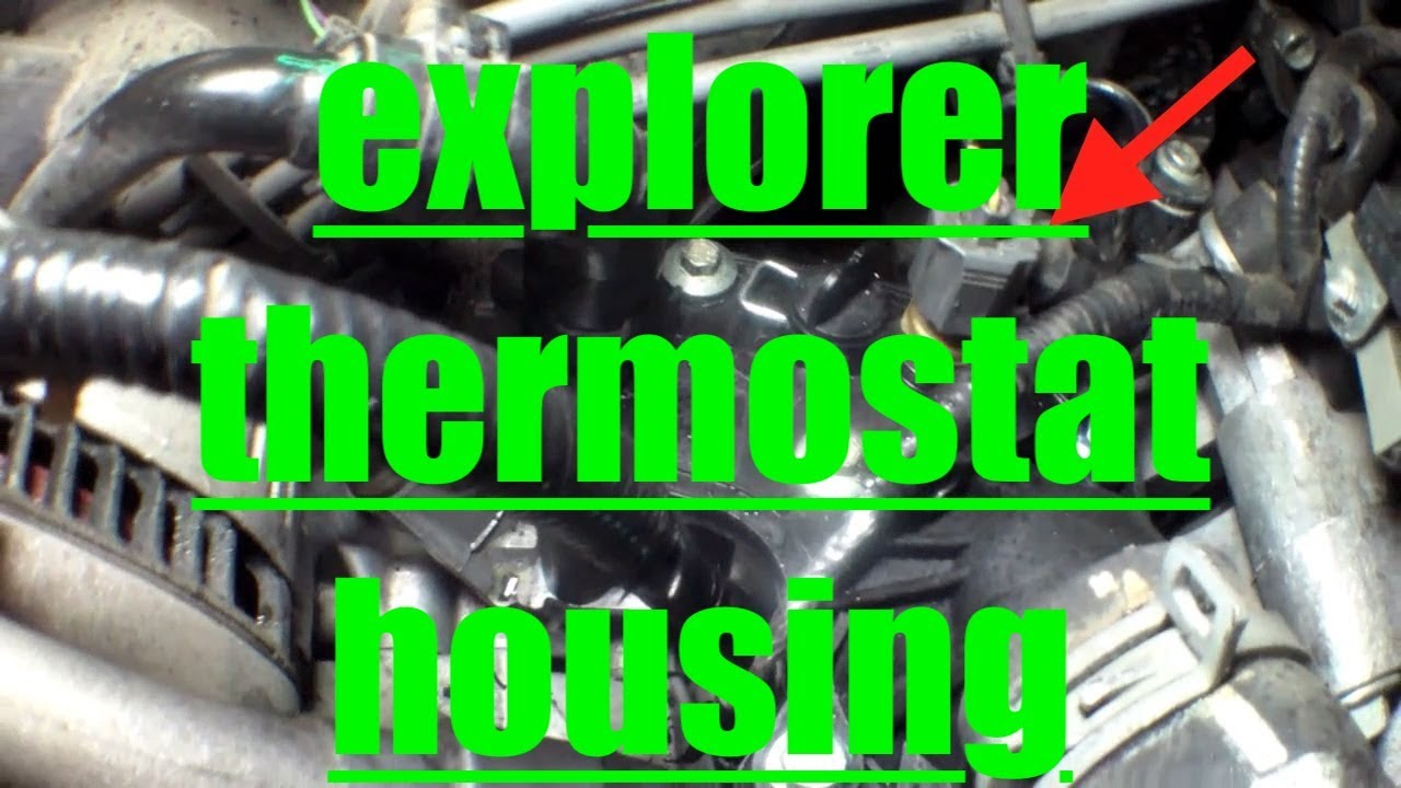 2014 Mazda 3 Oil Change >> Thermostat Housing Replacement '06-'10 Ford Explorer √ Fix it Angel - YouTube