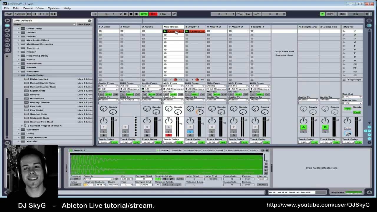 DJ SkyG - Ableton Live tutorial/stream Part 1 of 5 #1