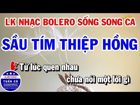 Karaoke Liên Khúc Nhạc Sống Trữ Tình Song Ca Dễ Hát | Sầu Tím Thiệp Hồng | Đừng Nói Xa Nhau