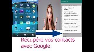 Récupérer  vos contacts du téléphone volé, formaté ou supprimé par  erreur