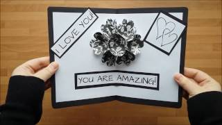 DIY 3D Flower POP UP Card | Gör Det Själv: 3D Blommor Pop-Up Kort