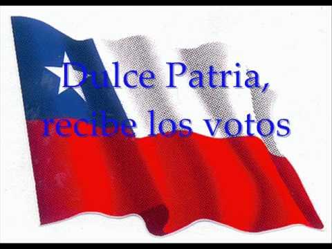 Himno Nacional de Chile con le...
