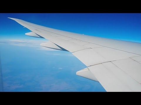 Flying on a Boeing 777. Turkmenistan airlines