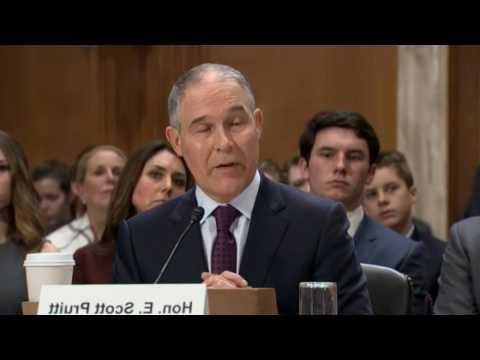 SCOTT PRUITT Confirmation Hearing for EPA (1/18/2017) Live Stream