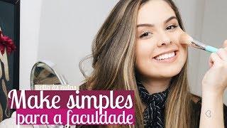 Maquiagem simples para trabalho/faculdade! (+dicas)   Mylena Matos