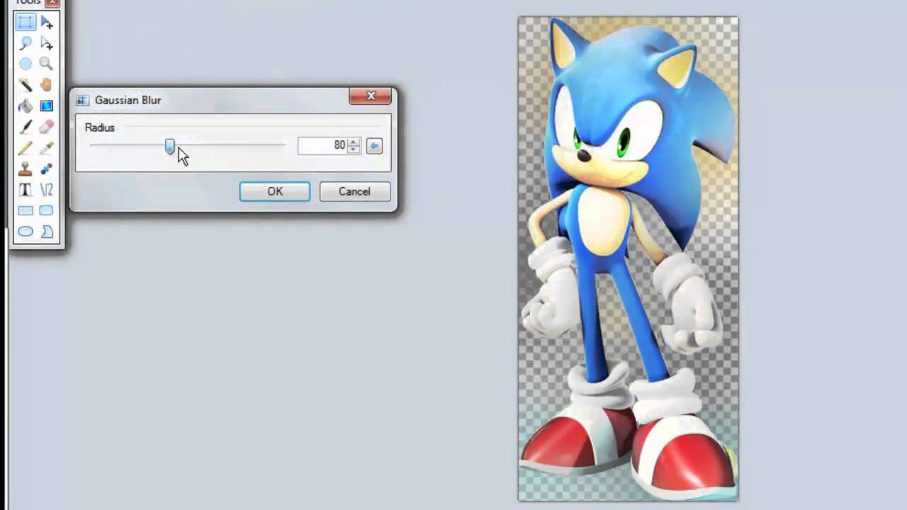 3d Sonic to Line Drawing [Gaussian Blur Technique] Paint ... | 1280 x 720 jpeg 53kB