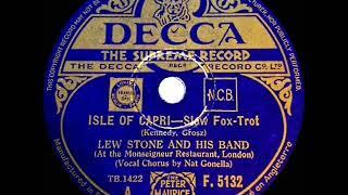 1934 Lew Stone - Isle Of Capri (Nat Gonella, vocal)