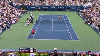 Federer vs Djokovic - US Open SF 2009 Highlights [HD]