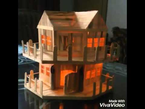 Diy Popsicle Sticks House Youtube