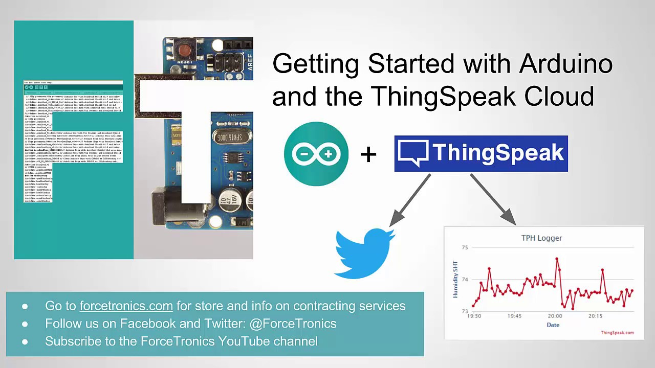 Getting started with arduino and the thingspeak cloud
