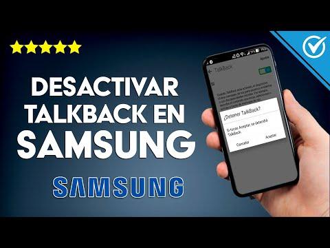 Cómo Desactivar o Inhabilitar la Opción TalkBack en un Móvil Samsung