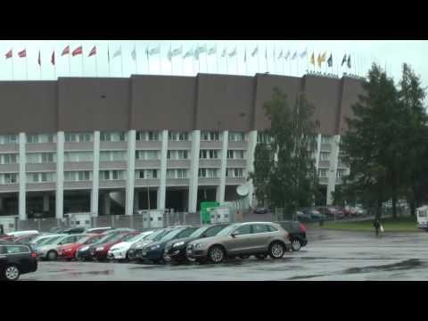 Outside Olympic Stadium in Helsinki, Finland