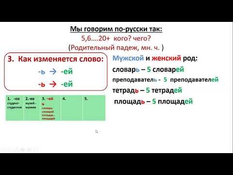Сколько? падеж 2 множественное число. Русский язык. How Many/ Much? Russian Genitive Case (plural)