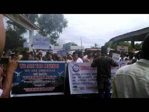 Dimapur Gorkha Student union, in peace Rally for Demand our Gorkhaland