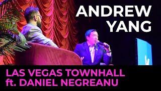 Andrew Yang Las Vegas Townhall ft  Daniel Negreanu