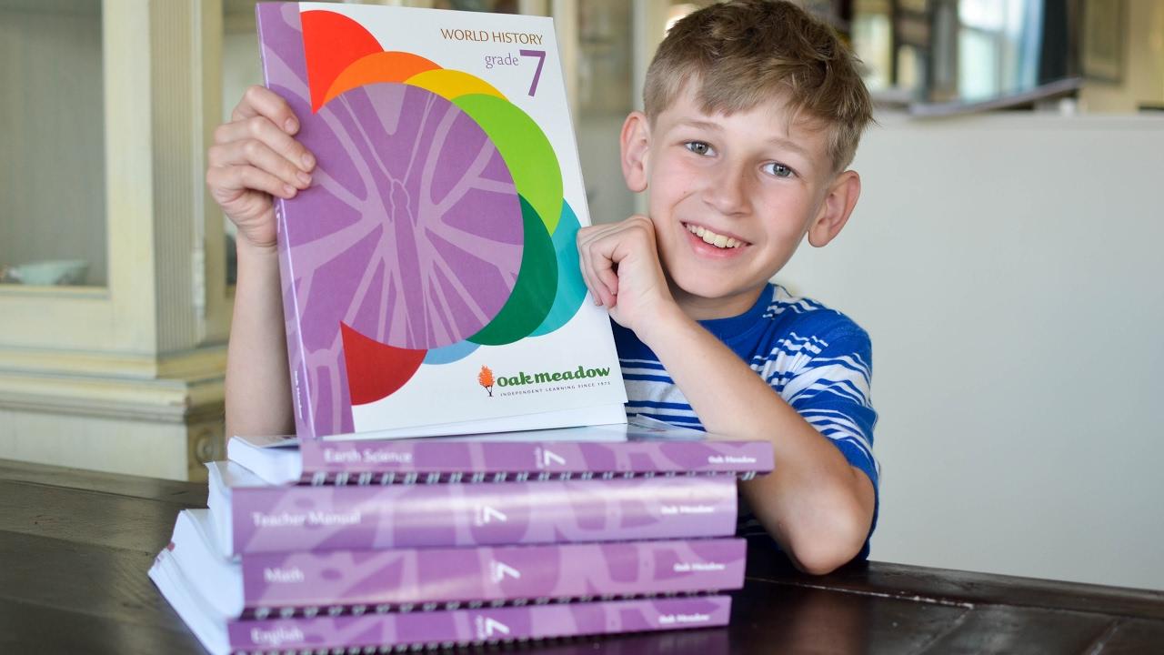 Oak Meadow Grade 7 Curriculum Unboxing