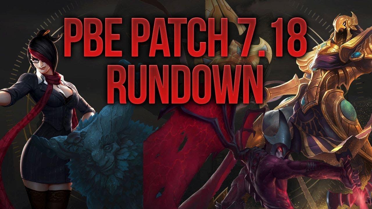patch notes league pbe
