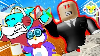 ESCAPE EVIL BOSS! Roblox Escape Office Obby Let's Play with Big Gil vs Peck
