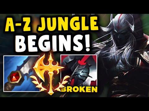 A-Z Rank 1 Jungle Challenge BEGINS!! Aatrox jungle is actually HIDDEN OP...