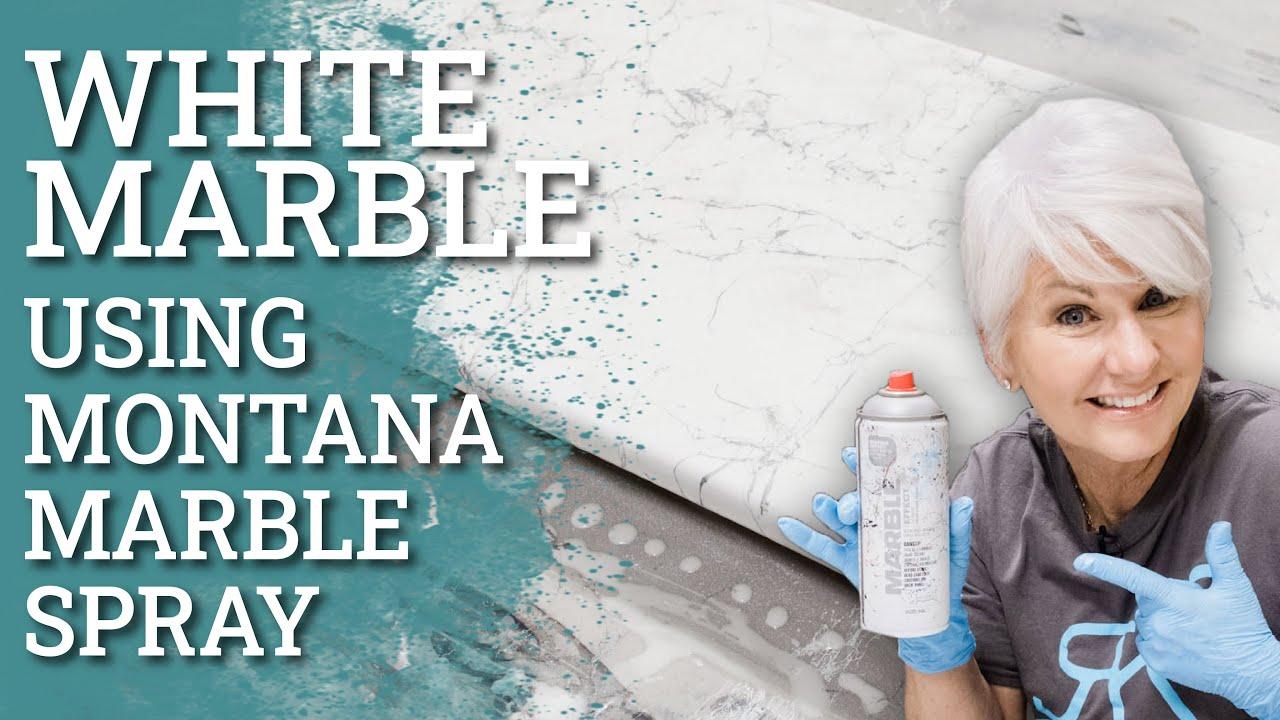 White Marble Epoxy using Montana Marble Spray