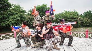 ltt nerf war seal x warriors nerf guns fight attack criminal group rescue winter warriors
