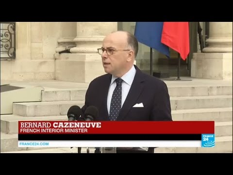 Bernard Cazeneuve, French interior minister, speaks on Tuesday Brussels attacks