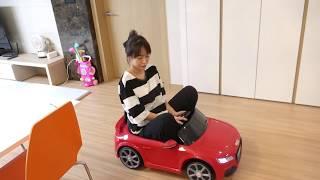 엄마와 놀기!! 서은이의 전동 자동차 놀이 미니 버스 경찰차 타요 핑크차 Power wheels