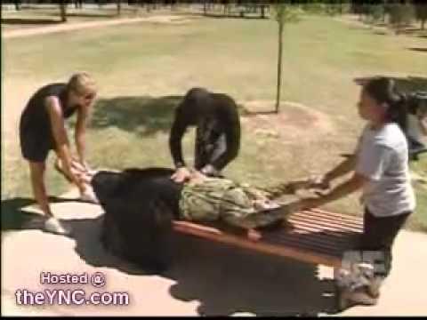 il la coupe en 2 dans un parc, devant témoins ! Regardez !!! - YouTube